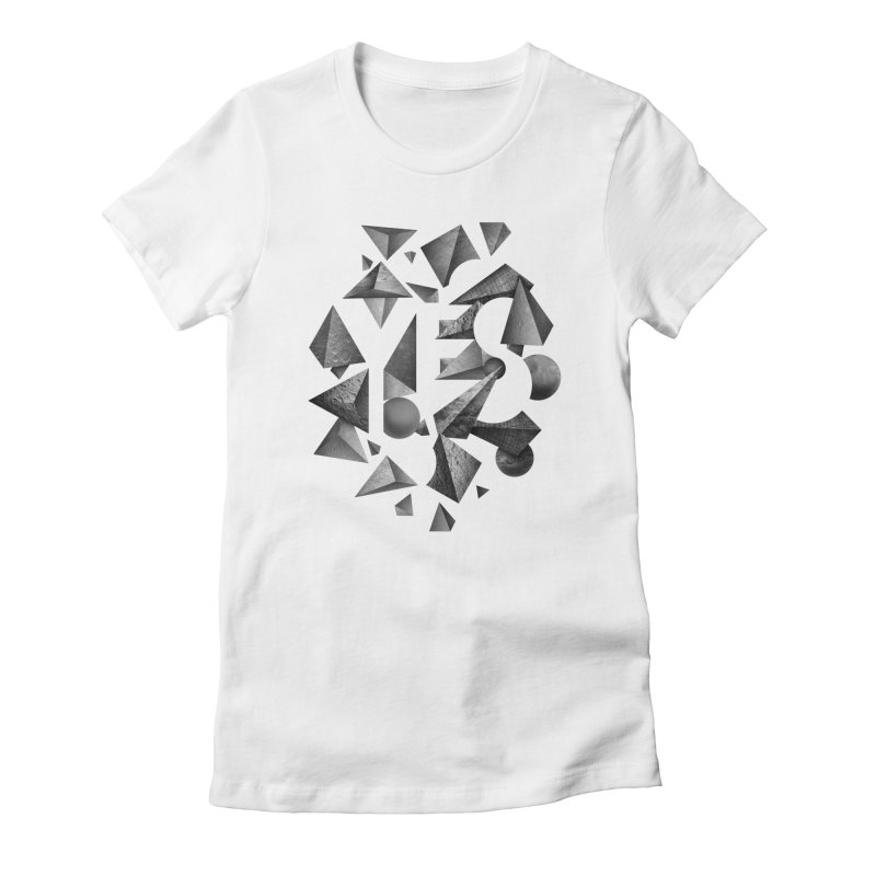 Non Negative Space Women's Fitted T-Shirt by SocialFabrica Artist Shop