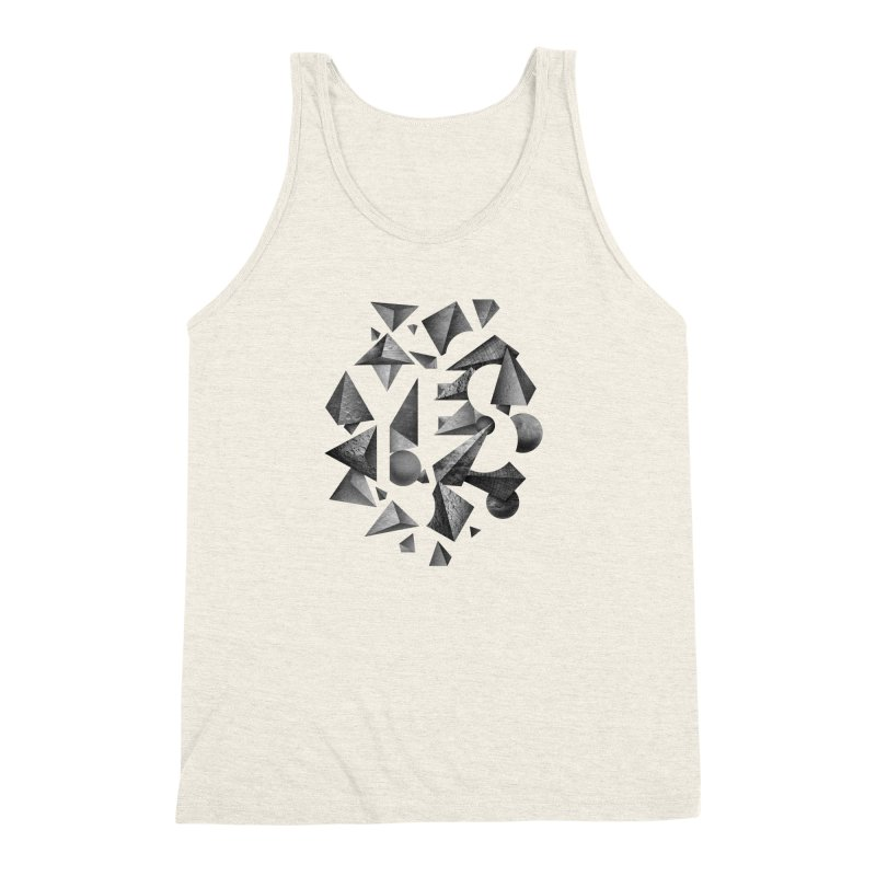 Non Negative Space Men's Triblend Tank by SocialFabrica Artist Shop