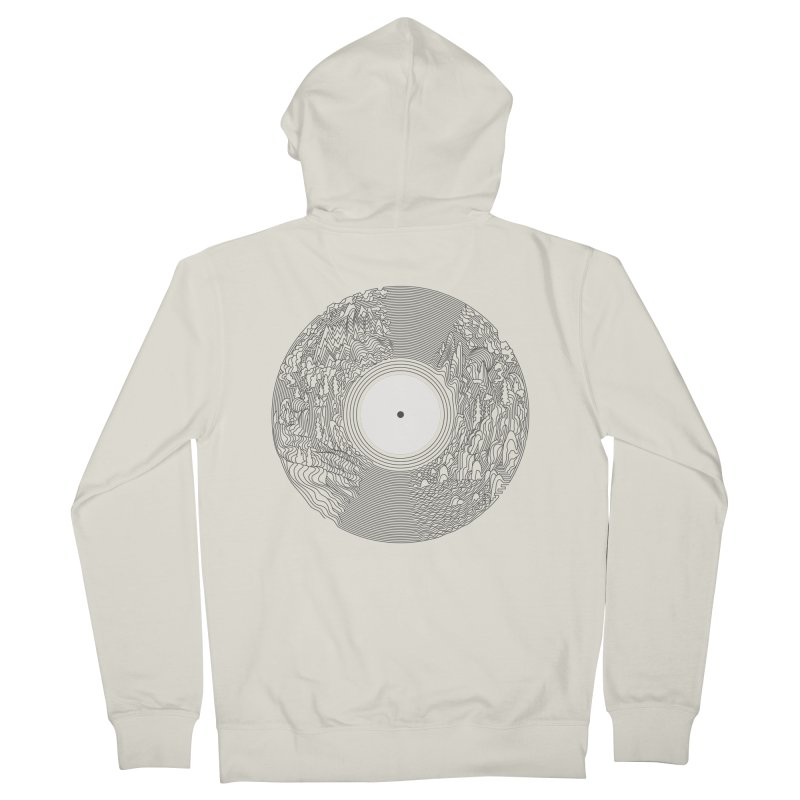Soundscape Men's Zip-Up Hoody by SocialFabrica Artist Shop