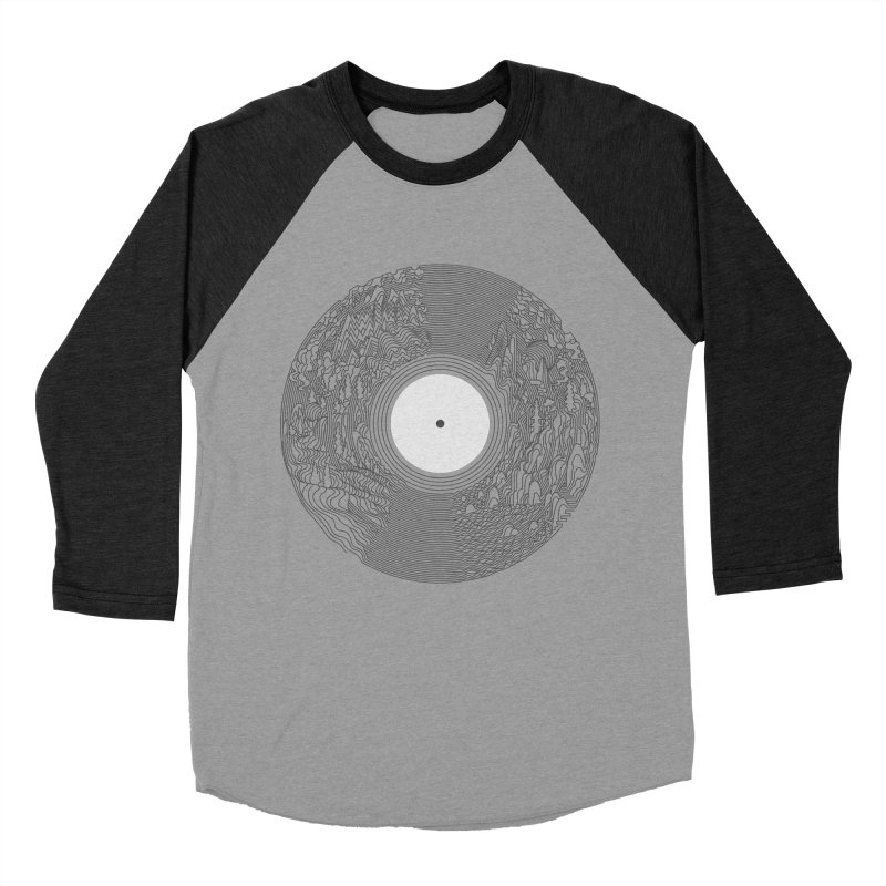 Soundscape Men's Baseball Triblend T-Shirt by SocialFabrica Artist Shop