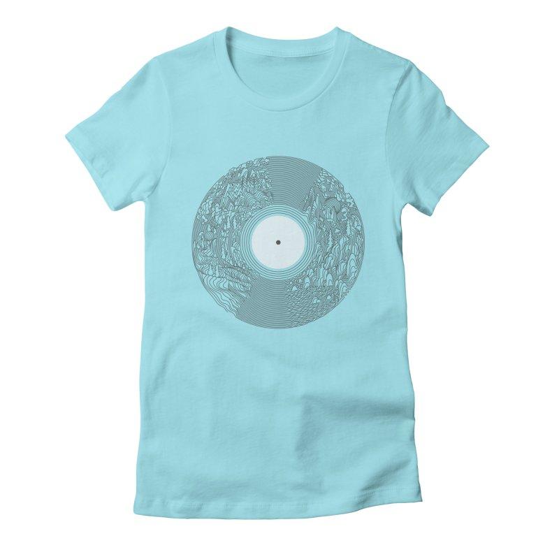 Soundscape Women's Fitted T-Shirt by SocialFabrica Artist Shop