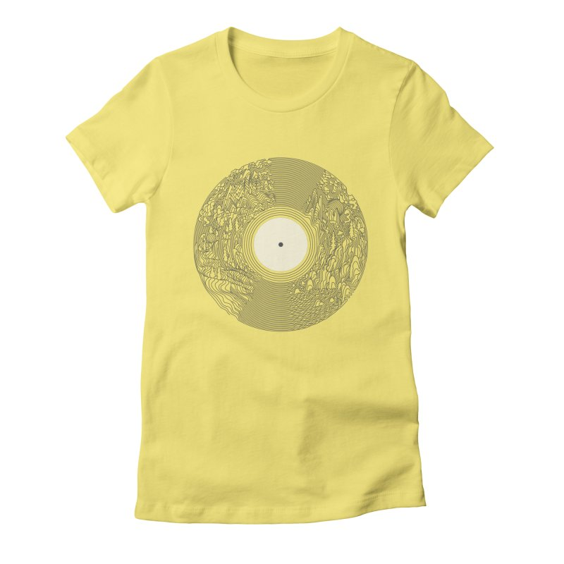 Soundscape Women's Fitted T-Shirt by SocialFabrica Artist Shop