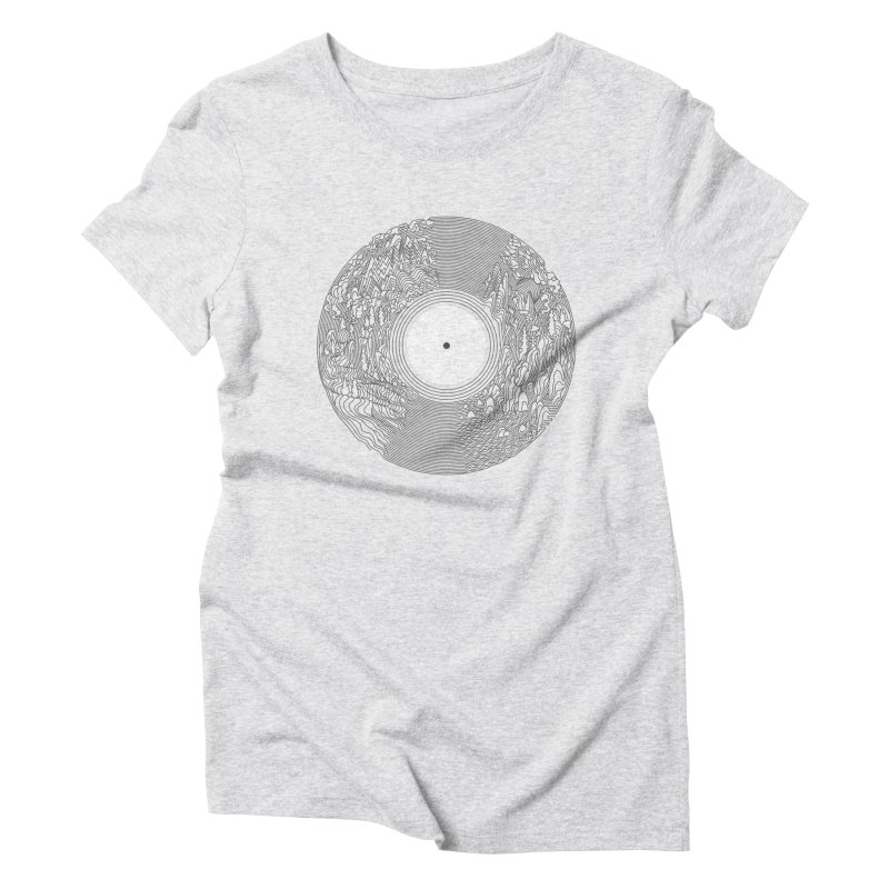 Soundscape Women's Triblend T-Shirt by SocialFabrica Artist Shop