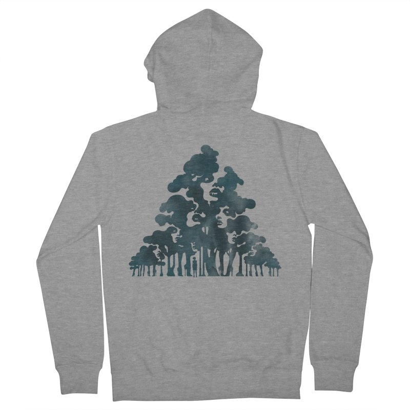 Wood for the Trees Women's Zip-Up Hoody by SocialFabrica Artist Shop