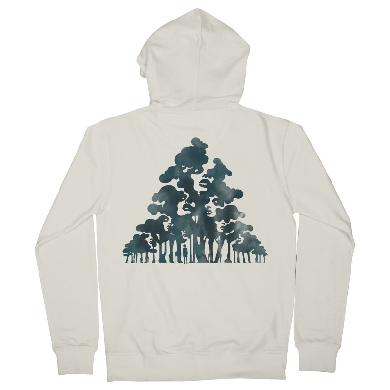 Wood for the Trees Men's Zip-Up Hoody by SocialFabrica Artist Shop