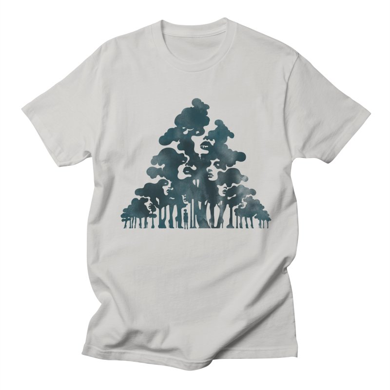 Wood for the Trees Men's T-shirt by SocialFabrica Artist Shop
