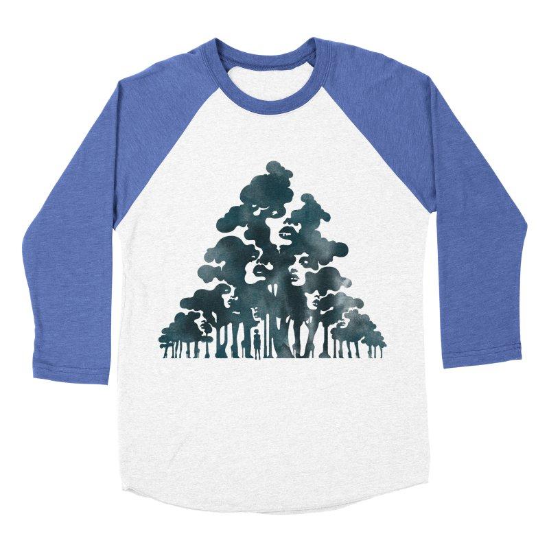 Wood for the Trees Women's Baseball Triblend T-Shirt by SocialFabrica Artist Shop