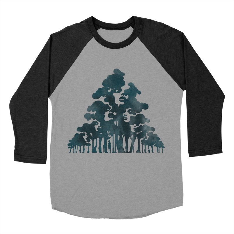 Wood for the Trees Women's Baseball Triblend T-Shirt by SocialFabrica Artist Shop
