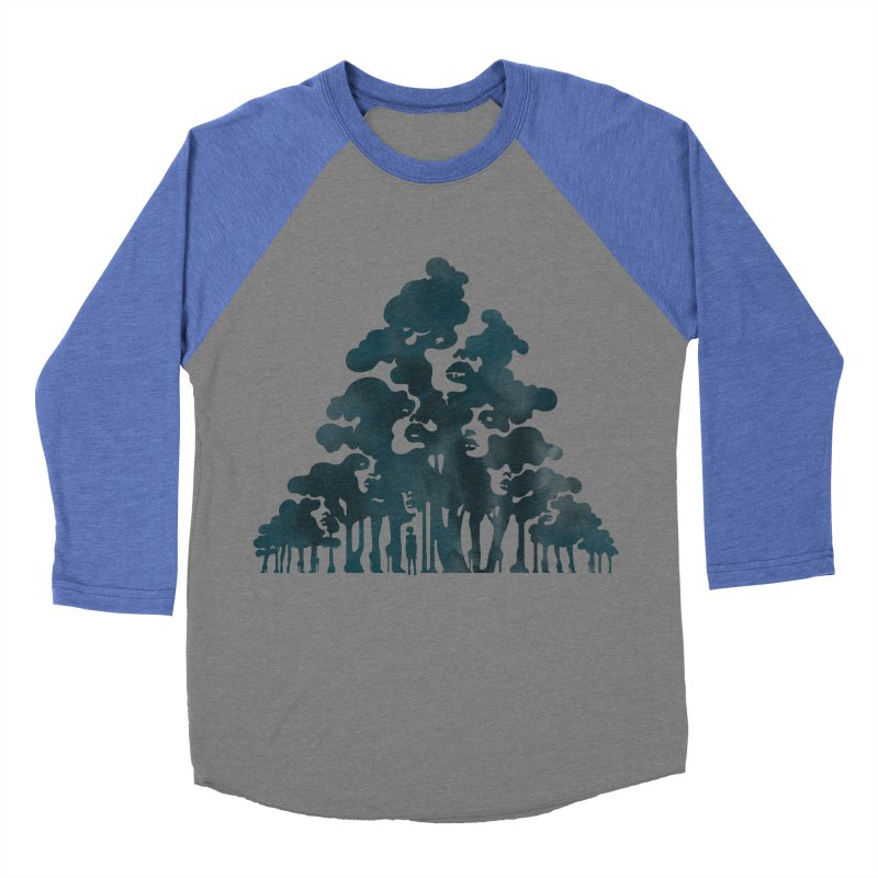 Wood for the Trees Men's Baseball Triblend T-Shirt by SocialFabrica Artist Shop