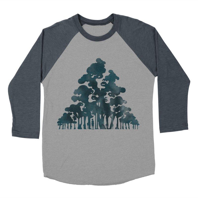 Wood for the Trees Men's Baseball Triblend T-Shirt by SocialFabrica Artist Shop