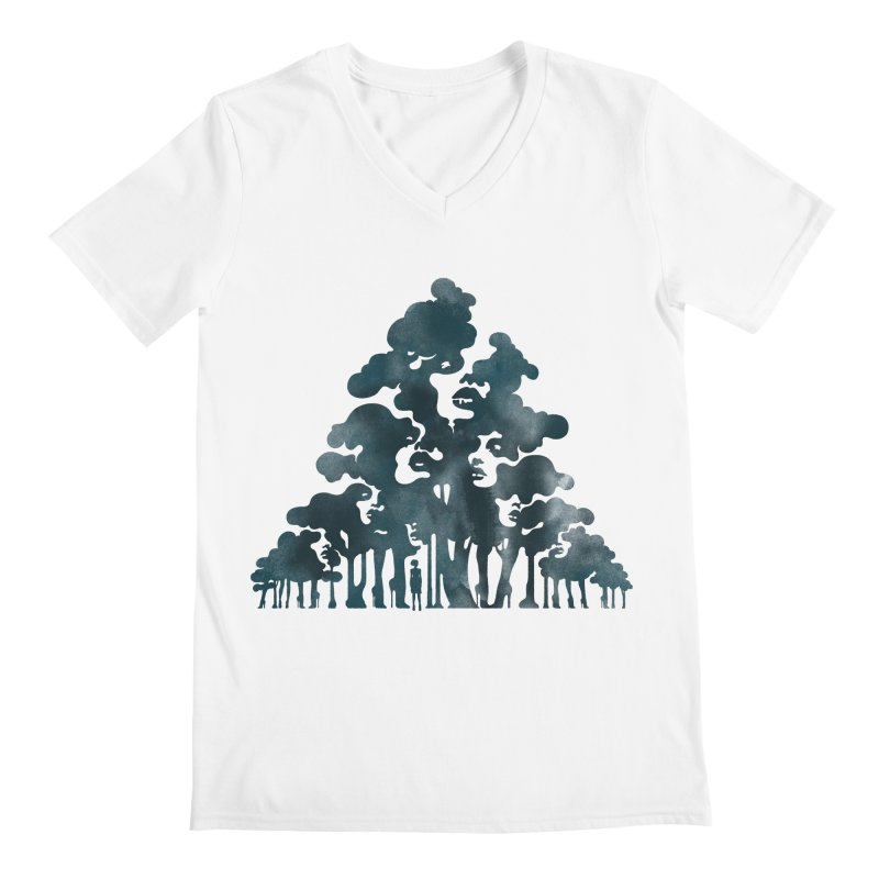 Wood for the Trees Men's V-Neck by SocialFabrica Artist Shop