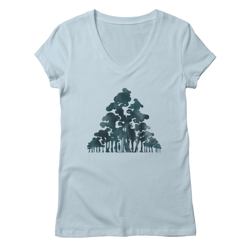 Wood for the Trees Women's V-Neck by SocialFabrica Artist Shop