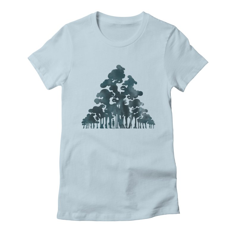 Wood for the Trees Women's Fitted T-Shirt by SocialFabrica Artist Shop