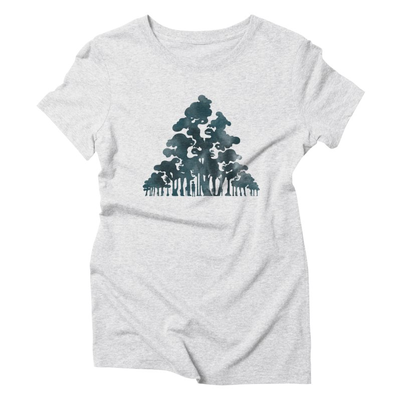Wood for the Trees Women's Triblend T-Shirt by SocialFabrica Artist Shop