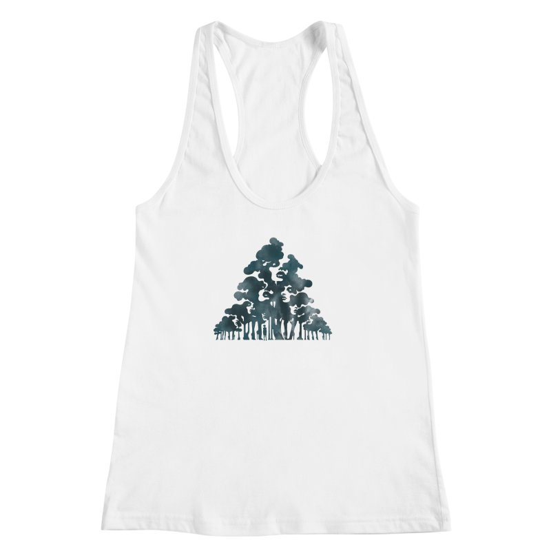Wood for the Trees Women's Racerback Tank by SocialFabrica Artist Shop