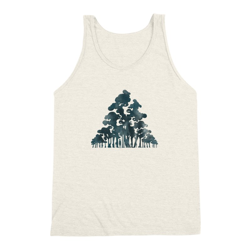 Wood for the Trees Men's Triblend Tank by SocialFabrica Artist Shop
