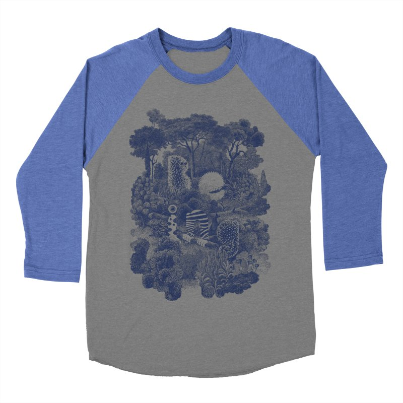 Biodiverse - monotone Men's Baseball Triblend T-Shirt by SocialFabrica Artist Shop