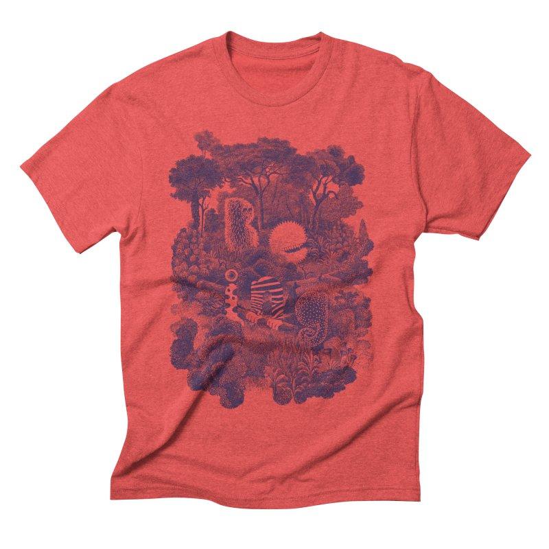 Biodiverse - monotone Men's Triblend T-shirt by SocialFabrica Artist Shop