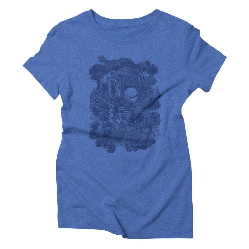 Biodiverse - monotone Women's Triblend T-Shirt by SocialFabrica Artist Shop