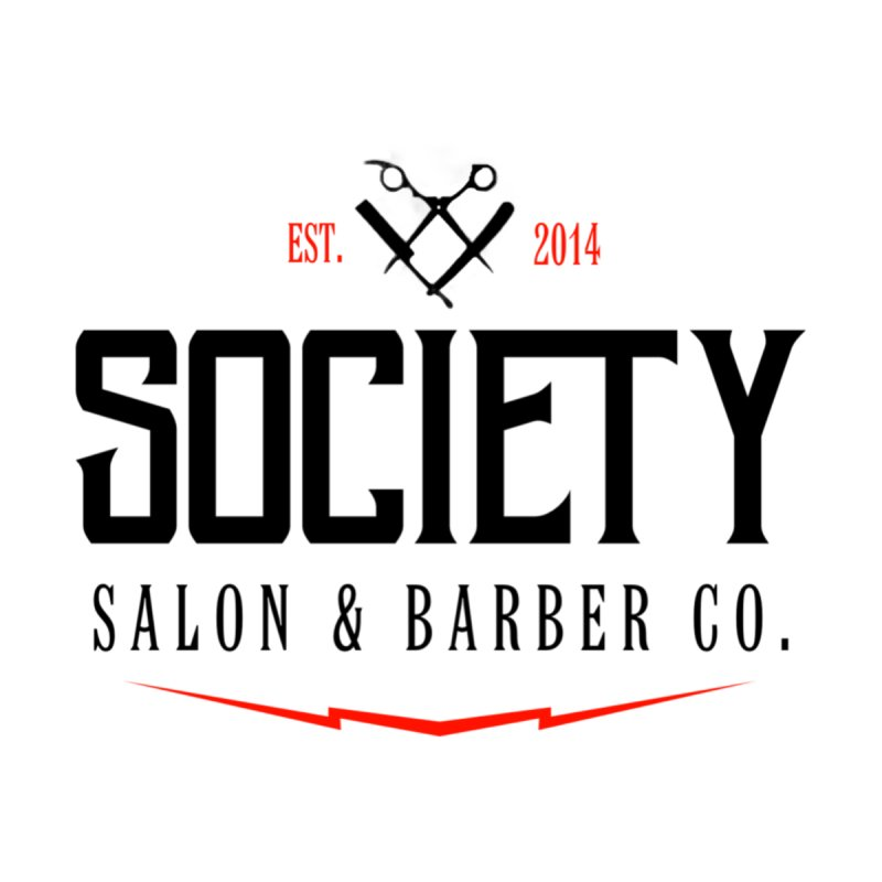 Society (black) Men's T-Shirt by Society Salon & Barber Co.