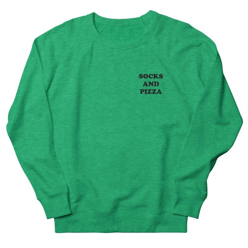 SOCKS AND PIZZA LOGO BLACK mini Women's Sweatshirt by SOCKS AND PIZZA MAG