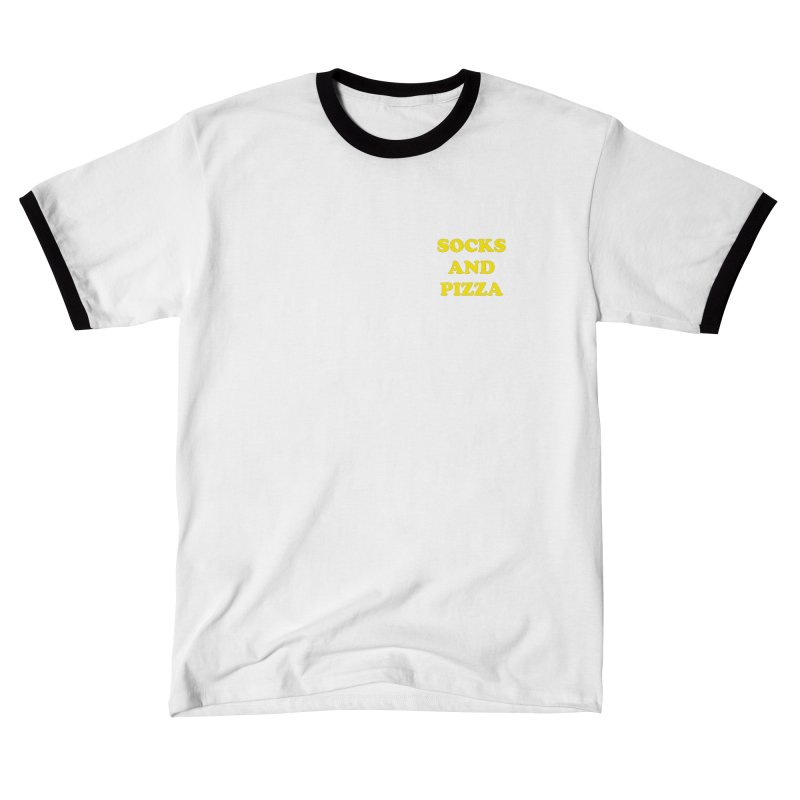 SOCKS AND PIZZA LOGO YELLOW mini Men's T-Shirt by SOCKS AND PIZZA MAG