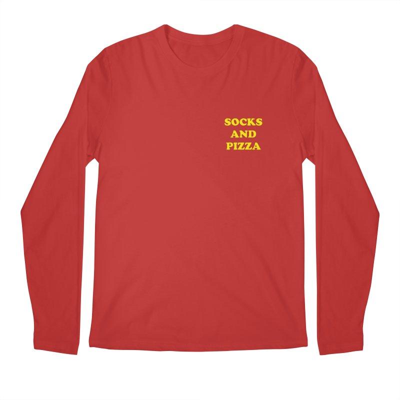 SOCKS AND PIZZA LOGO YELLOW mini Men's Longsleeve T-Shirt by SOCKS AND PIZZA MAG