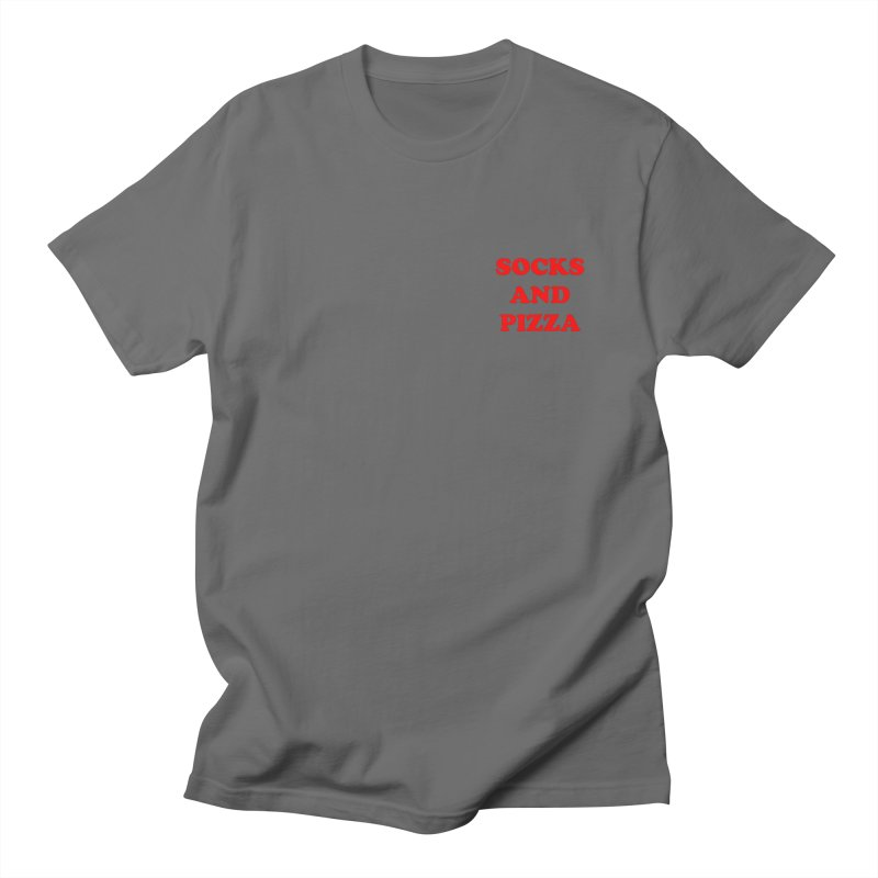 SOCKS AND PIZZA LOGO RED mini Men's T-Shirt by SOCKS AND PIZZA MAG