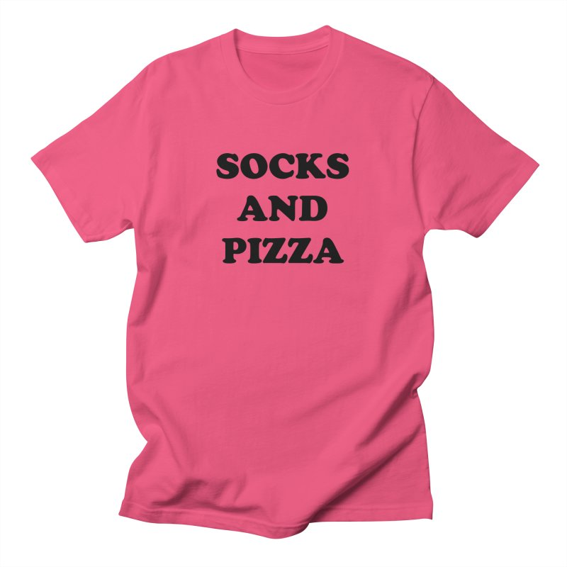 SOCKS AND PIZZA LOGO BLACK Men's T-Shirt by SOCKS AND PIZZA MAG