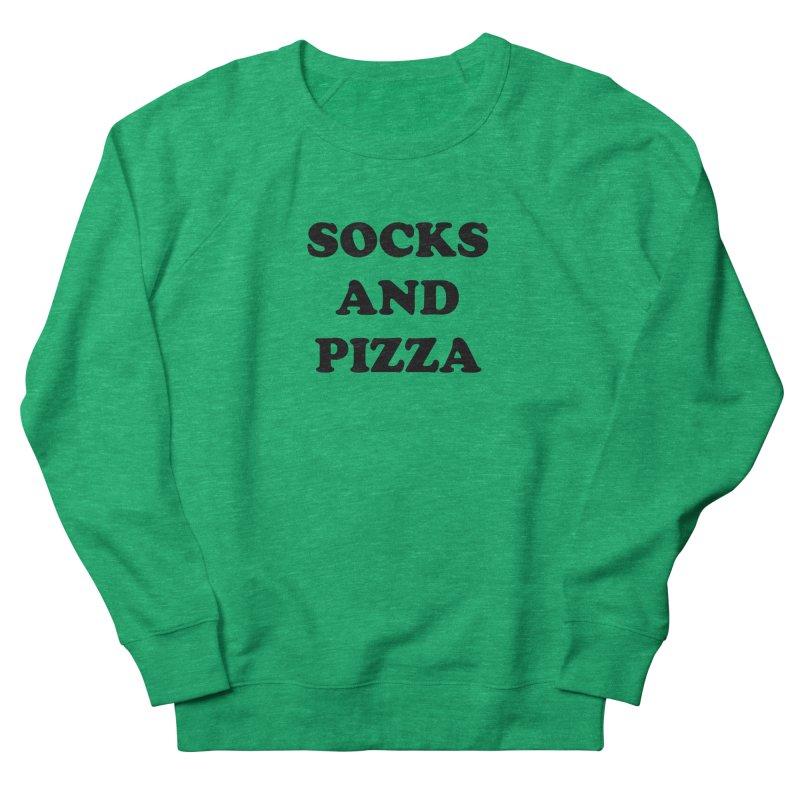 SOCKS AND PIZZA LOGO BLACK Women's Sweatshirt by SOCKS AND PIZZA MAG