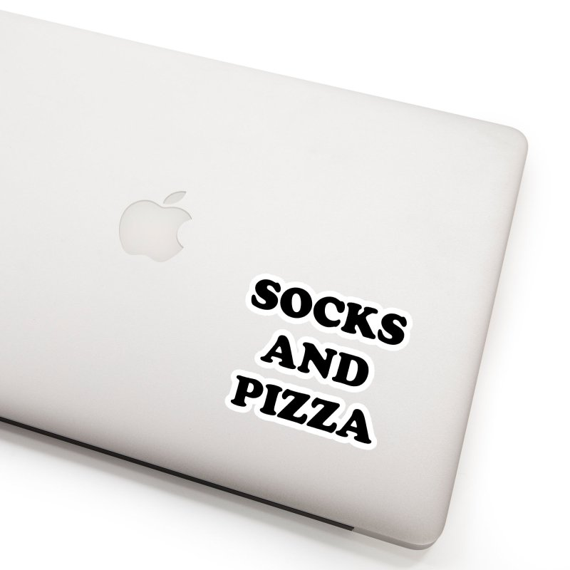 SOCKS AND PIZZA LOGO BLACK Accessories Sticker by SOCKS AND PIZZA MAG