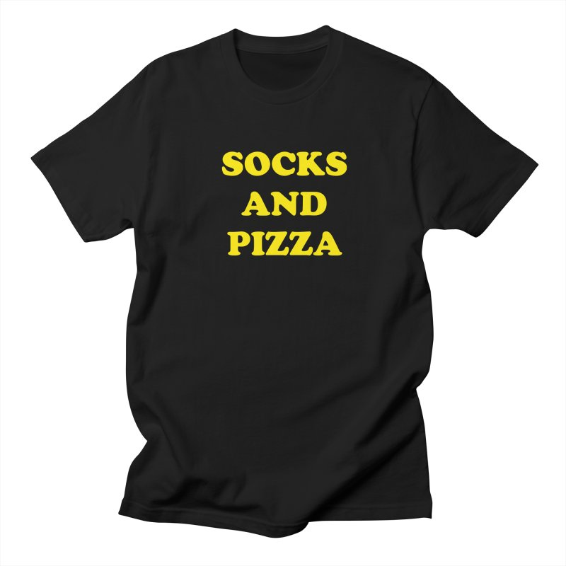 SOCKS AND PIZZA LOGO YELLOW Men's T-Shirt by SOCKS AND PIZZA MAG