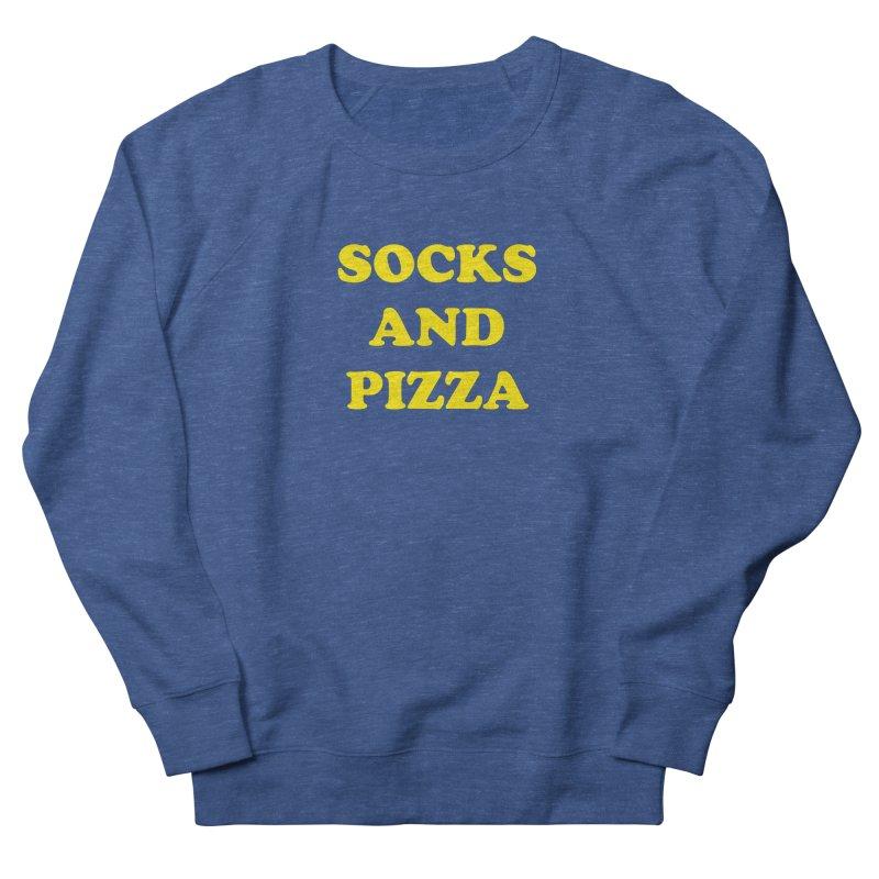 SOCKS AND PIZZA LOGO YELLOW Men's Sweatshirt by SOCKS AND PIZZA MAG