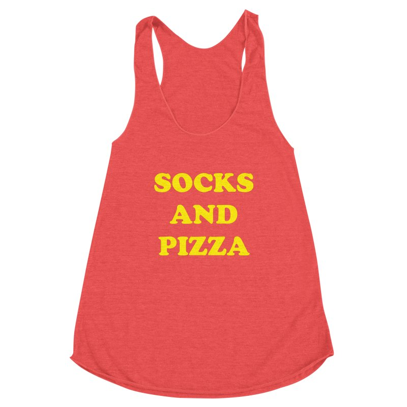 SOCKS AND PIZZA LOGO YELLOW Women's Tank by SOCKS AND PIZZA MAG
