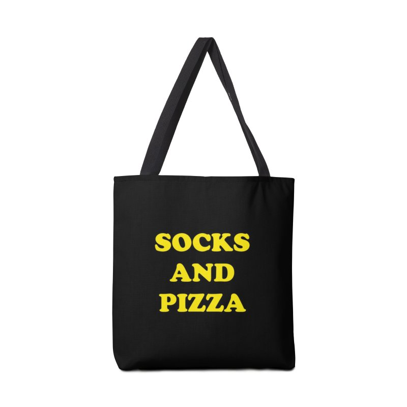 SOCKS AND PIZZA LOGO YELLOW Accessories Bag by SOCKS AND PIZZA MAG