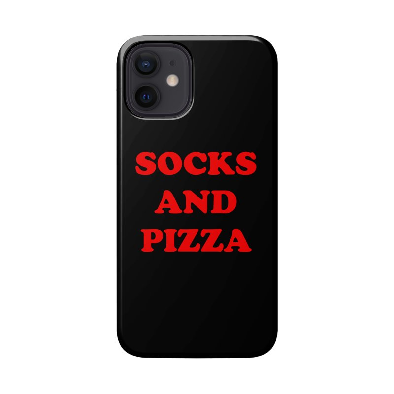 SOCKS AND PIZZA LOGO RED Accessories Phone Case by SOCKS AND PIZZA MAG