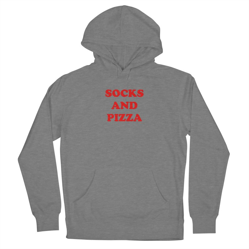 SOCKS AND PIZZA LOGO RED Women's Pullover Hoody by SOCKS AND PIZZA MAG