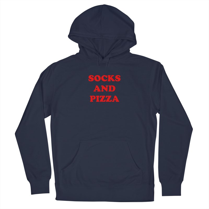 SOCKS AND PIZZA LOGO RED Men's Pullover Hoody by SOCKS AND PIZZA MAG