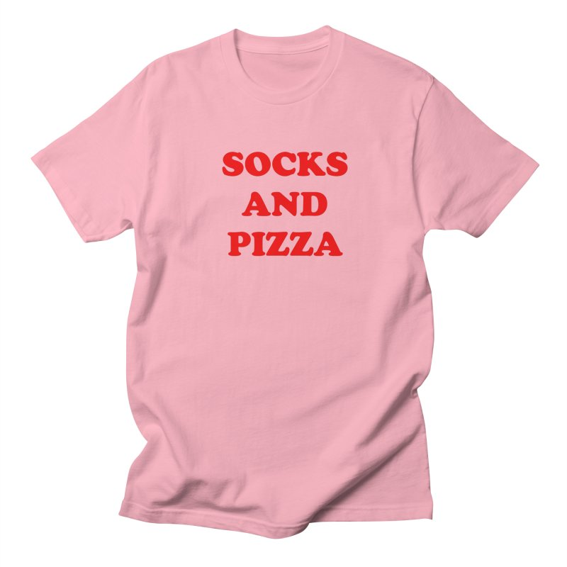 SOCKS AND PIZZA LOGO RED Men's T-Shirt by SOCKS AND PIZZA MAG