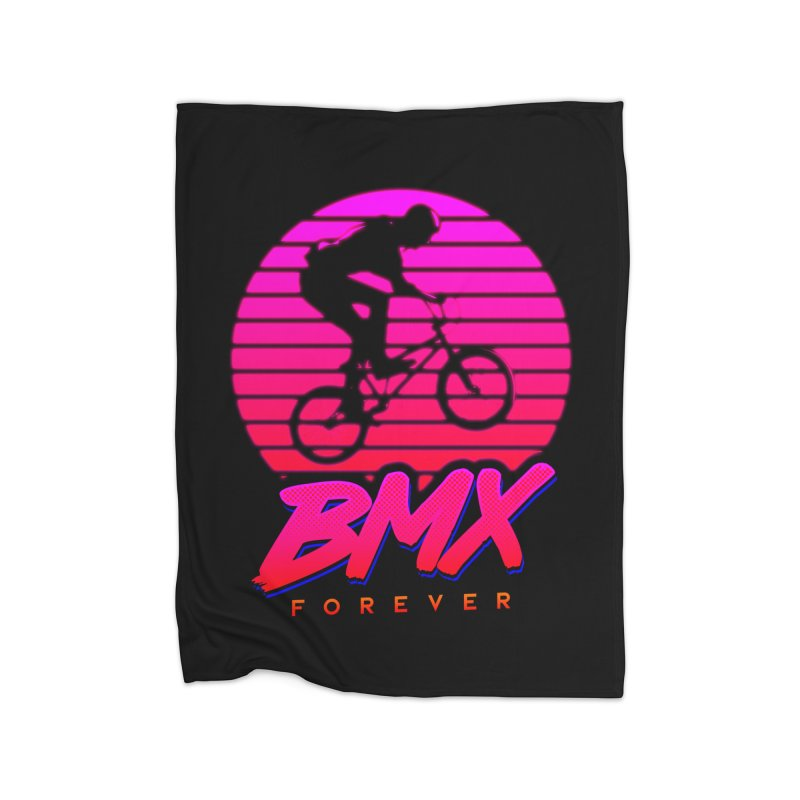 BMX forever Home Fleece Blanket Blanket by SOE