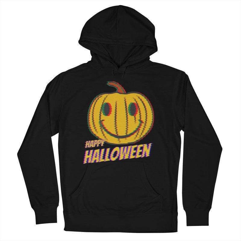 happy acid smiley pumpkin halloween Women's French Terry Pullover Hoody by SOE