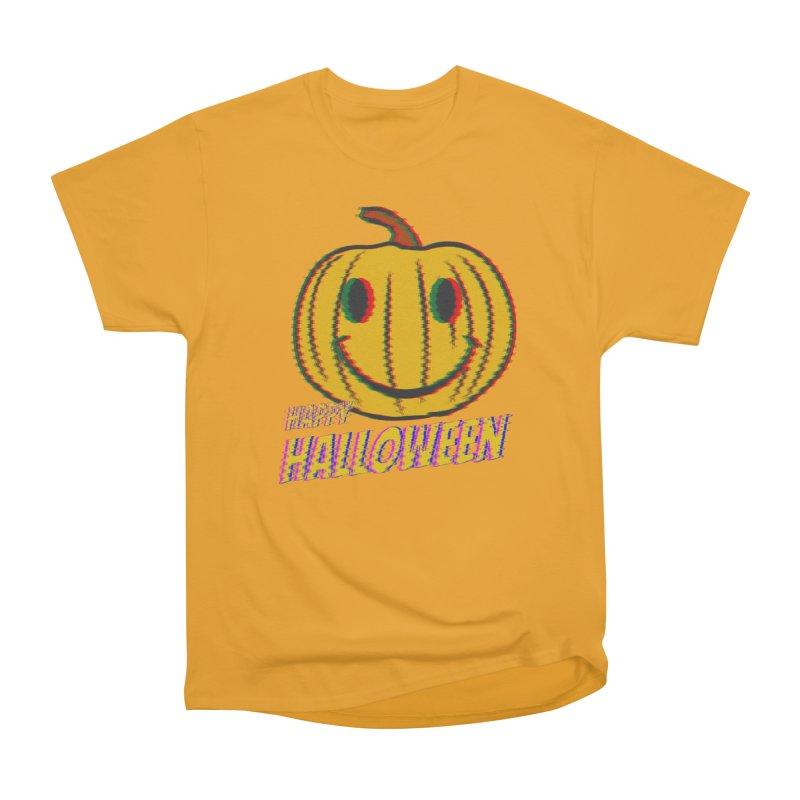 happy acid smiley pumpkin halloween Women's Heavyweight Unisex T-Shirt by SOE