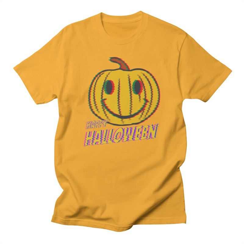 happy acid smiley pumpkin halloween Women's Regular Unisex T-Shirt by SOE