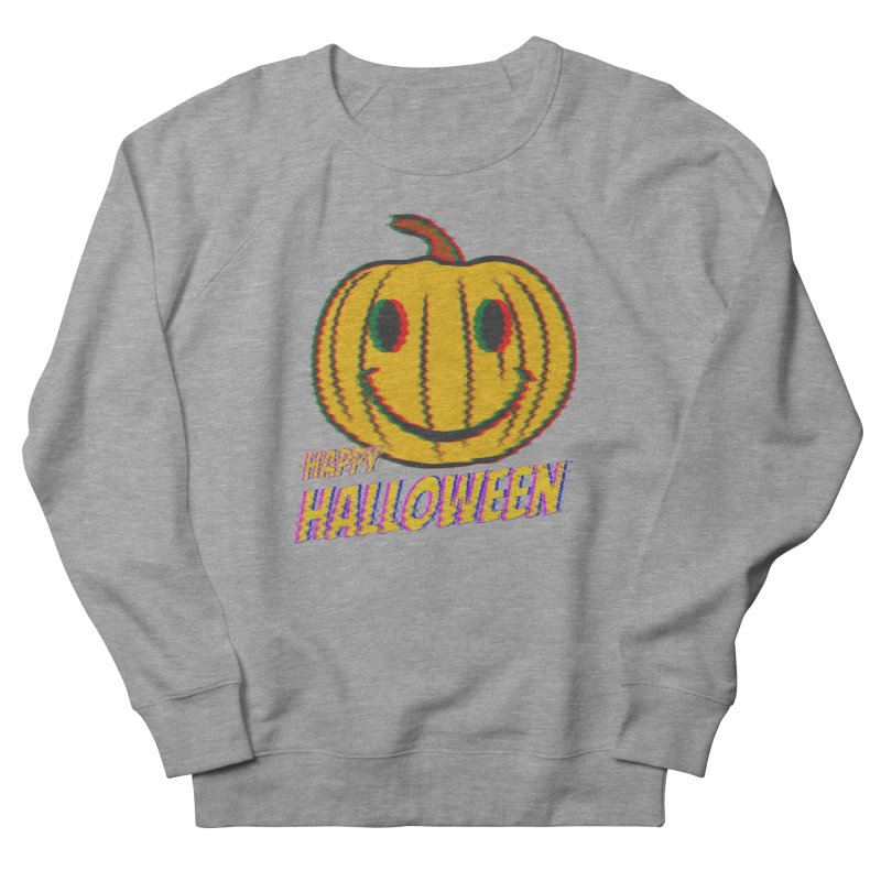 happy acid smiley pumpkin halloween Men's French Terry Sweatshirt by SOE