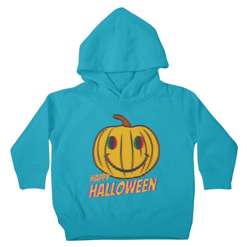 happy acid smiley pumpkin halloween Kids Toddler Pullover Hoody by SOE