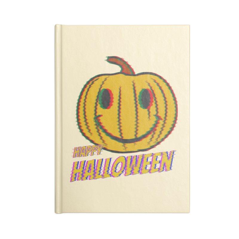 happy acid smiley pumpkin halloween Accessories Blank Journal Notebook by SOE