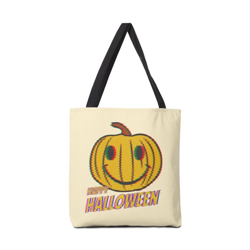happy acid smiley pumpkin halloween Accessories Tote Bag Bag by SOE
