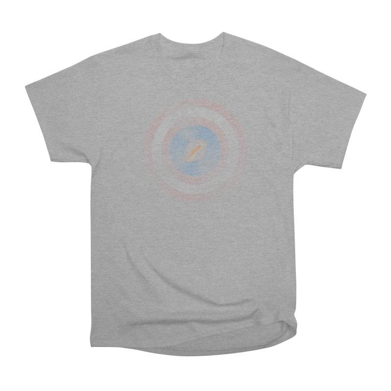 captain american football Women's Heavyweight Unisex T-Shirt by SOE