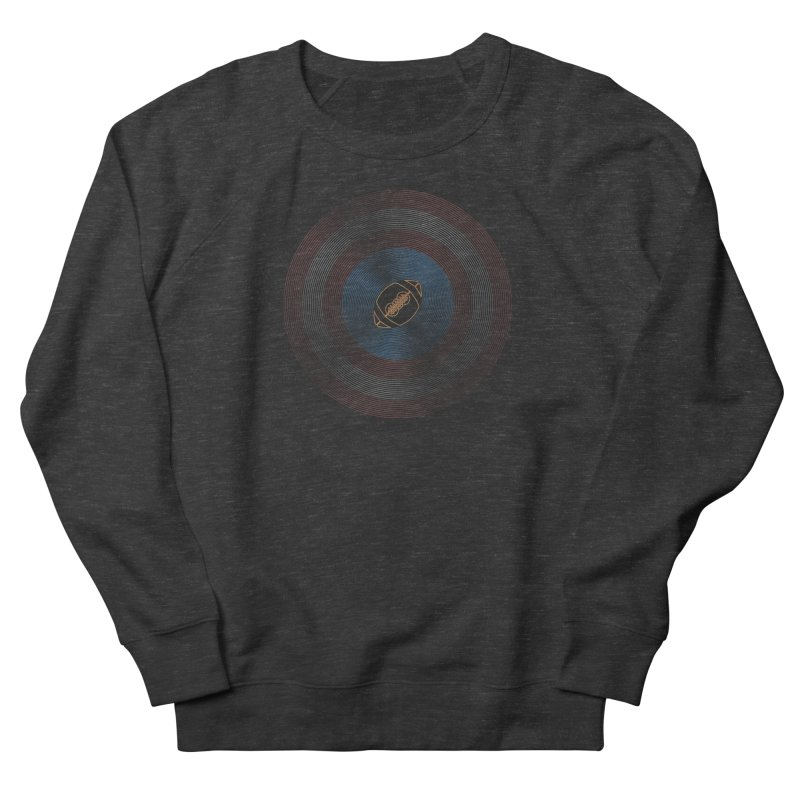 captain american football Men's French Terry Sweatshirt by SOE