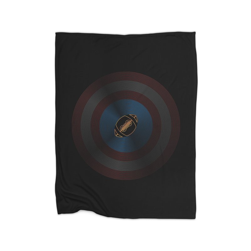captain american football Home Fleece Blanket Blanket by SOE
